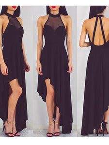 2018 Chiffon Black Prom Dress Cheap Long Prom Dress #VB2251 - DemiDress.com