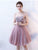 Lace Pink Homecoming Dress Party Cheap Homecoming Dress #VB2264