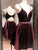 Burgundy Homecoming Dress Party Cheap Homecoming Dress #VB2268