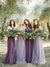 A-line Halter Floor-length Sleeveless Tulle Bridesmaid Dresses # VB226