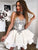 Ivory Lace Homecoming Dress Party Cheap Homecoming Dress #VB2271