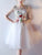 Ivory Lace Homecoming Dress Party Embroidery Cheap Homecoming Dress #VB2276