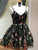 Black Lace Homecoming Dress Party Embroidery Cheap Homecoming Dress #VB2278