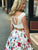 Two Piece Floral Prom Dress Lace Cheap Long Prom Dress #VB2285