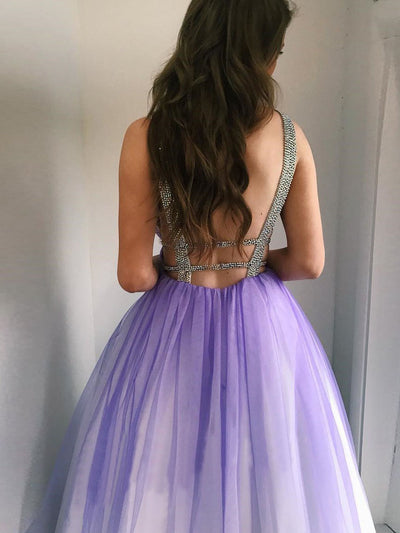2018 Ombre Tulle Prom Dress Cheap Long Prom Dress #VB2286 - DemiDress.com