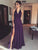 Chic Chiffon Prom Dress Purple Cheap Long Prom Dress #VB2287