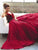 Burgundy Chiffon Prom Dress V Neck Cheap Long Prom Dress #VB2292