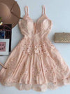 Lace Homecoming Dress Party Pink Homecoming Dress #VB2320