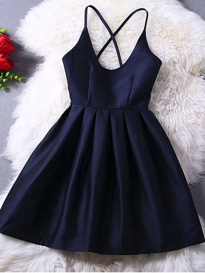 2018 Simple Homecoming Dress Party Cheap Homecoming Dress #VB2323 - DemiDress.com