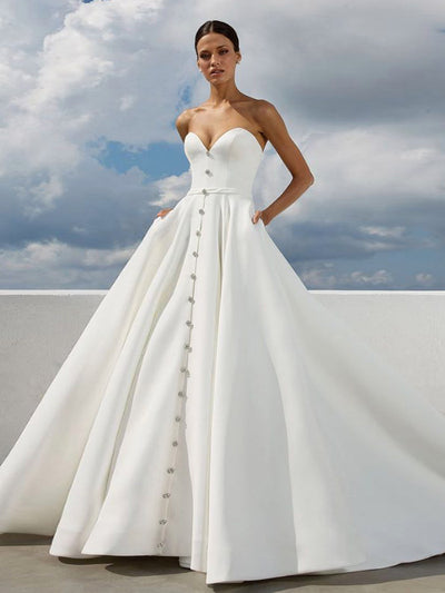 Vintage Ivory Wedding Dress Simple Beautiful Wedding Dress # VB2325 ...