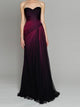 Ombre Black Prom Dress Cheap Long Sweetheart Prom Dress #VB2328