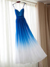 A-line Spaghetti Straps Floor-length Sleeveless Chiffon Prom Dress/Evening Dress # VB233