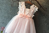 2018 Lace Flower Girl Dresses Pink Cute Cheap Flower Girl Dresses #VB2341 - DemiDress.com