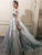 2018 Vintage Silver Wedding Dress Off The Shoulder Wedding Dress # VB2342