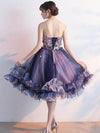 2018 Lace Homecoming Dress Purple Tulle Cheap Homecoming Dress #VB2366 - DemiDress.com