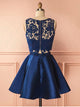 Two Piece Lace Homecoming Dress Cheap Homecoming Dress #VB2369