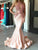 Chic Mermaid Prom Dress Pink Cheap Long Prom Dress #VB2375