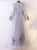 Silver V Neck Prom Dress Long Sleeve Tulle Cheap Prom Dress #VB2389