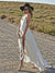 2018 Chic Wedding Dress Chiffon Beach Ivory Wedding Dress # VB2412