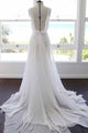 2018 Cheap Wedding Dress Chiffon Beach Wedding Dress # VB2413 - DemiDress.com