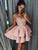 Pink Lace Homecoming Dress Party Cheap Homecoming Dress #VB2418