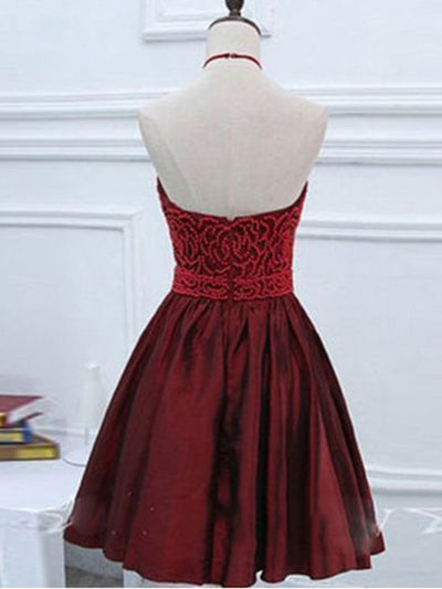 2018 Burgundy Homecoming Dress Cheap Party Homecoming Dress #VB2432 - DemiDress.com