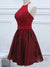 2018 Burgundy Homecoming Dress Cheap Party Homecoming Dress #VB2432