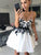 White Lace Homecoming Dress Cheap Party Homecoming Dress #VB2449