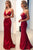 Chic Burgundy Prom Dress Cheap Long Prom Dress #VB2459