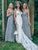 Silver Chiffon Bridesmaid Dresses Cheap Long Bridesmaid Dresses # VB2461