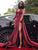 Chic Burgundy Prom Dress Lace Cheap Long Prom Dress #VB2477