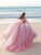 Vintage Pink Wedding Dress Off The Shoulder Ball Gown Wedding Dress # VB2481