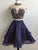 Two Piece Homecoming Dress High Neck Party Homecoming Dress #VB2490