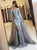 Mermaid V Neck Prom Dress Silver Lace Vintage Prom Dress #VB2505