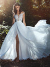 Chic White Wedding Dress Chiffon Lace Cheap Wedding Dress # VB2512
