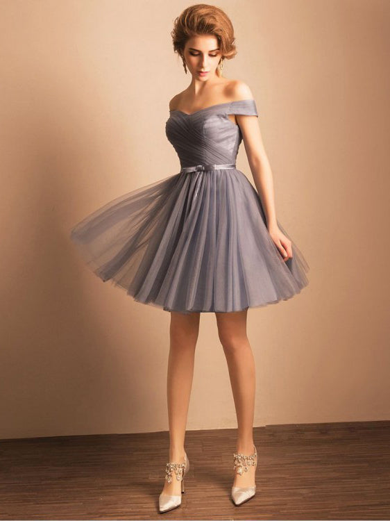 Silver Homecoming Dress Party Cheap African Homecoming Dress #VB2515