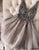 Silver V Neck Homecoming Dress Party Cheap Homecoming Dress #VB2525