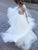 White Wedding Dress Lace Long Sleeve Wedding Dress # VB2526