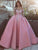Vintage Pink Wedding Dress Off The Shoulder Ball Gown Wedding Dress # VB2529