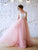 Chic Pink Prom Dress Cheap Tulle Lace Prom Dress #VB2530