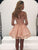 Pink Long Sleeve Homecoming Dress Party Cheap Homecoming Dress #VB2550