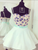 Ivory Floral Homecoming Dress Party Cheap Homecoming Dress #VB2553