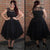 Black Plus Size Homecoming Dress Cheap Tulle Homecoming Dress #VB2574