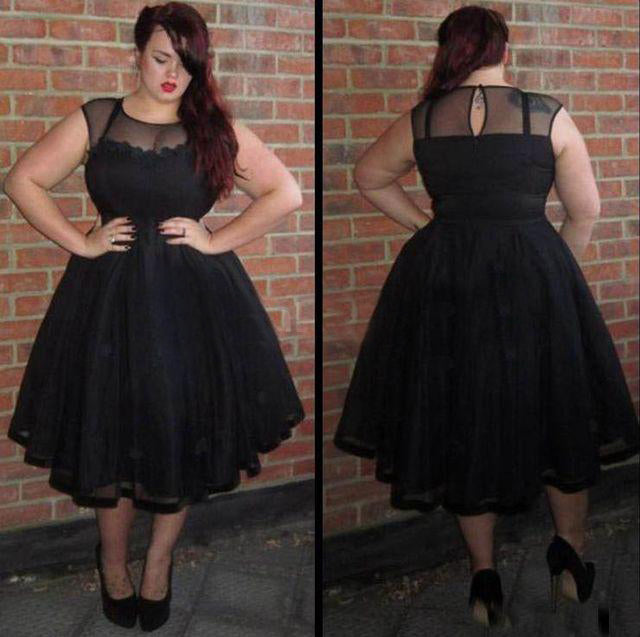 Black Plus Size Homecoming Dress Cheap Tulle Homecoming Dress ...