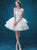 Ivory Party Homecoming Dress Princess Cheap Homecoming Dress #VB2579
