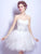 White Party Homecoming Dress Princess Cheap Homecoming Dress #VB2608