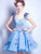 Blue Homecoming Dress Cheap Tulle Besutiful Homecoming Dress #VB2609