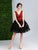 Black And Red Lace Homecoming Dress Cheap Tulle Homecoming Dress #VB2618
