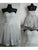 Silver Lace Homecoming Dress Cheap Party Homecoming Dress #VB2623