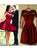 Burgundy Lace Homecoming Dress Long Sleeve Homecoming Dress #VB2631